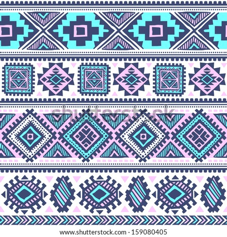 Tribal ethnic seamless  - stock vector