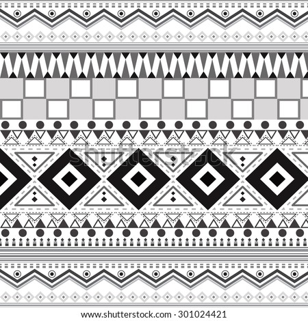 Tribal ethnic seamless patterns, Geometric backgrounds.