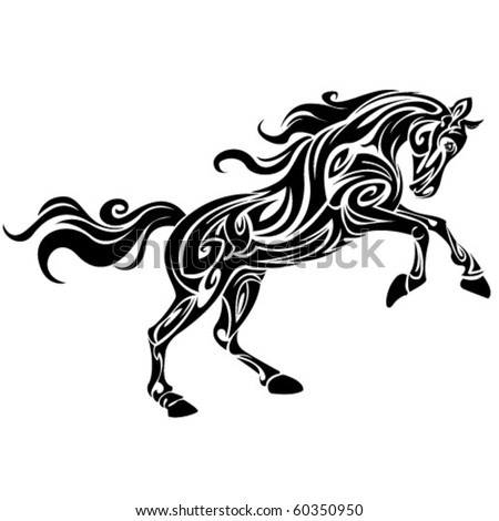 horse tattoo stock images royalty free images vectors shutterstock. Black Bedroom Furniture Sets. Home Design Ideas