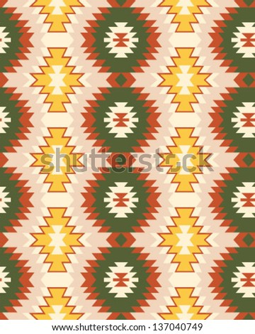 Tribal Navajo Pattern (Vector) - stock vector