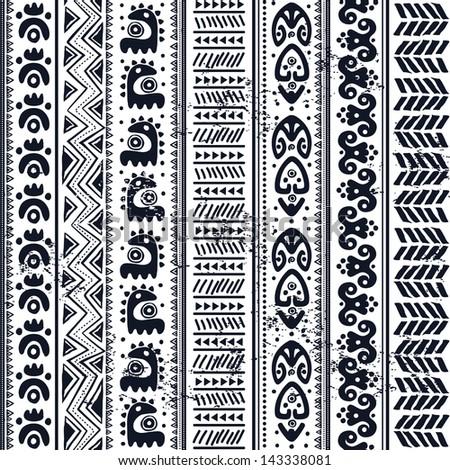 Tribal ornament seamless - stock vector
