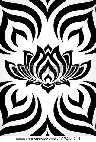 tribal Pattern Lotus - stock vector