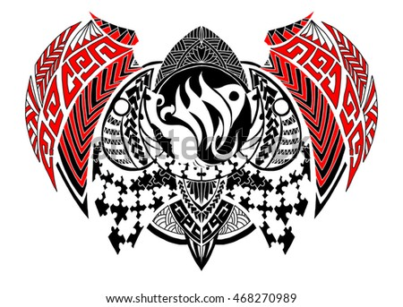 Virgo tattoo stock images royalty free images vectors for Virgo tribal tattoo