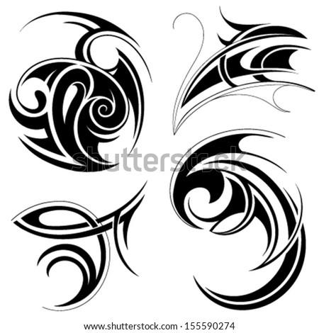 tribal tattoo stock vector 155590274 shutterstock. Black Bedroom Furniture Sets. Home Design Ideas