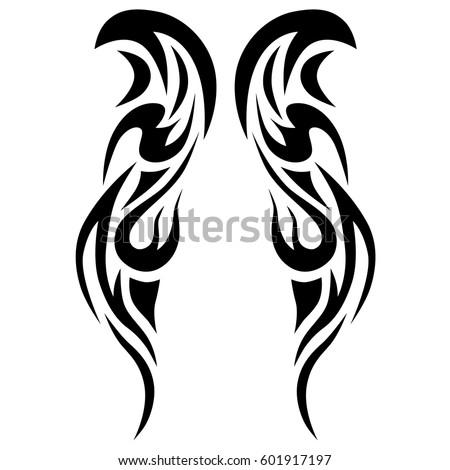 tribal tattoo art designs sketched simple stock vector 601917197 shutterstock. Black Bedroom Furniture Sets. Home Design Ideas
