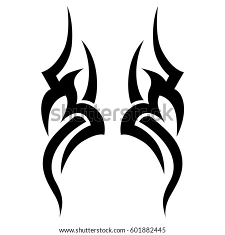 Tribal stock images royalty free images vectors for Simple tribal tattoo