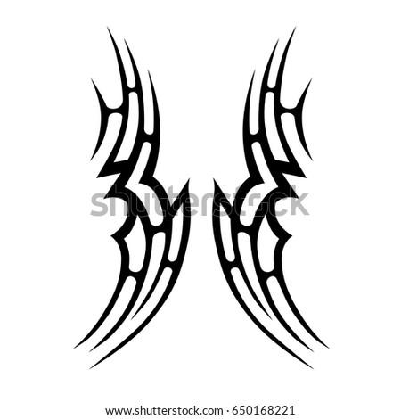 Tattoo Tribal Vector Design Simple Symbol Stock Vector 685186603 ...