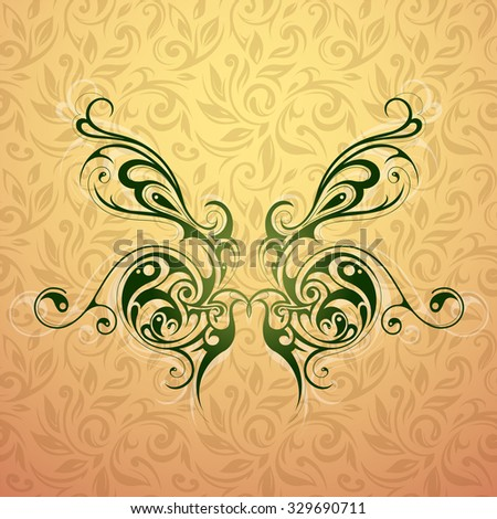 Tribal tattoo butterfly shape