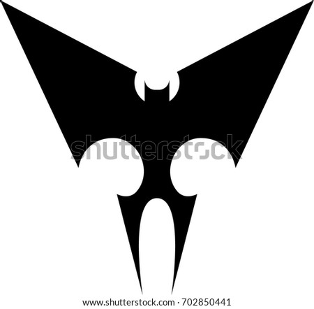 24d782822 Stock Vector Bat Tribal Tattoo in 2017: Real Photo, Pictures .