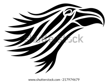 Tribal vector image of an eagle's head