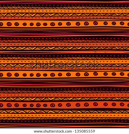 Tribal vector seamless pattern. Hand drawn abstract background. - stock vector