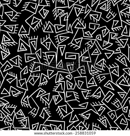 Tribal vintage ethnic pattern. Black and white background. Can be used for wallpaper, pattern fills, web page background,surface textures.