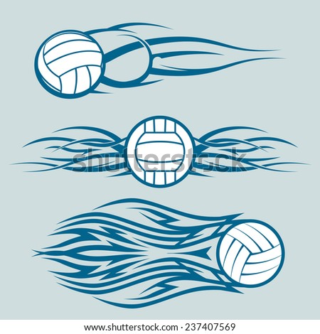 Tribal Volleyballs - stock vector