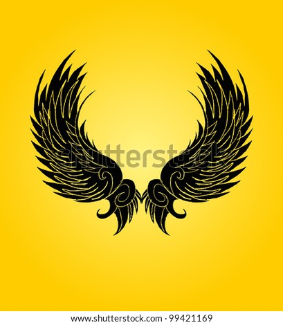 tribal wings - stock vector