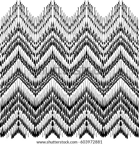 Finest Tribal Zigzag Geometric Style Hand Drawn Stock Vector HD (Royalty  OI93