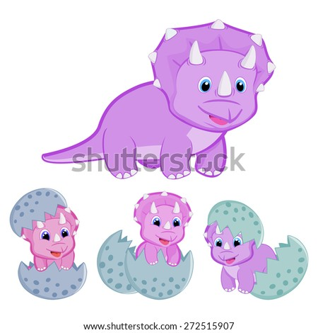 how to draw a baby triceratops