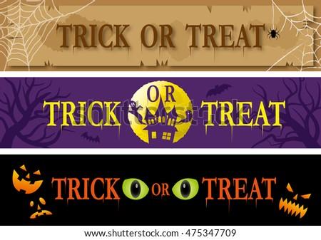 Trick or treat banner set