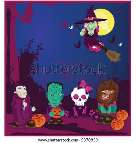 Trick Or Treat Halloween - stock vector