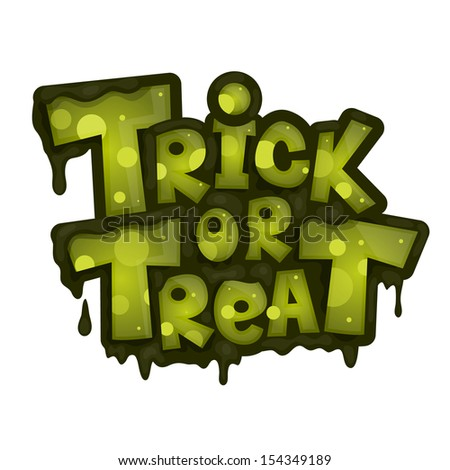 Trick or treat. Vector illustration - stock vector
