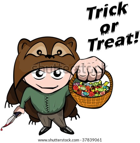 Trick or Treating - stock vector