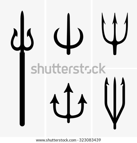 Tridents - stock vector