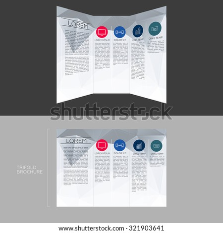 trifold brochure template design dl size stock vector 321903641