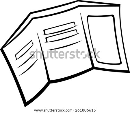 trifold wallet - stock vector