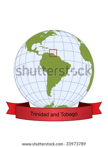 Trinidad and Tobago, position on the globe