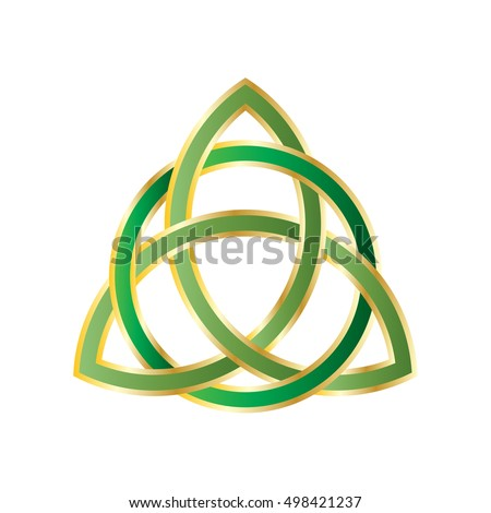 Trinity Knot Triquetra Ancient Celtic Symbol Stock Vector 498421237
