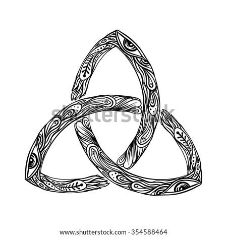 Triquetra Celtic Body Mind Spirit Symbol Stock Photo Photo Vector
