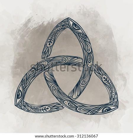 Triquetra Celtic Body Mind Spirit Symbol Stock Vector 312136067