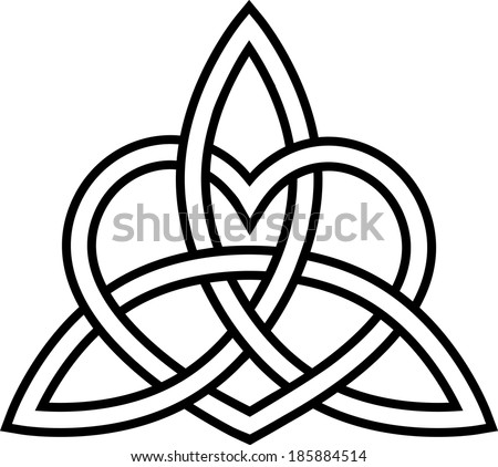 Triquetra Heart Paganism Celtic Endless Knot Stock Vector 185884514