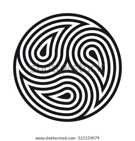 Triskelion stock images royalty free images vectors for Circular symbols tattoos