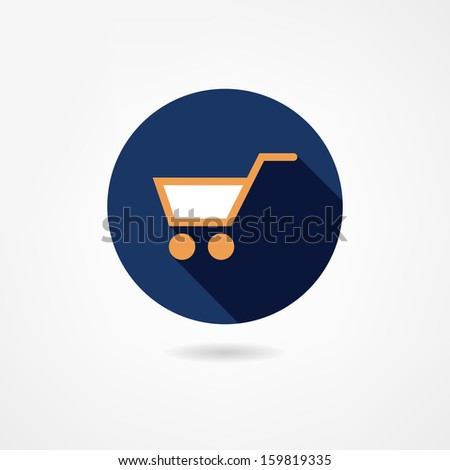 trolley icon - stock vector