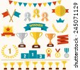 trophy and awards icon set ...