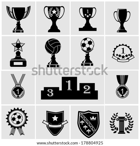Trophy and Awards Icons - stock vector