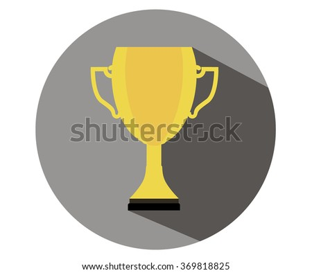 Trophy Cup Flat Icon.Vector illustration - stock vector
