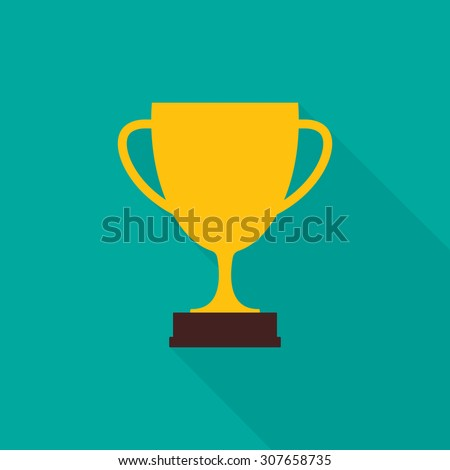 Trophy cup icon - Vector - stock vector