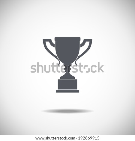 Trophy cup isolated on a white background - stock vector