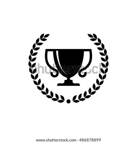 Trophy cup with laurel wreath, icon