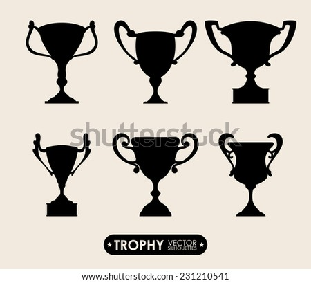 trophy graphic design , vector illustration