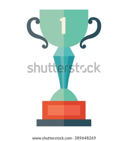 Trophy icon flat design/Winner cup/Trophy icon art, Trophy icon vector, Trophy icon  isolated on white background, Trophy icon vector illustration/Vector winner cup icon /Trophy icon drawing, graphic - stock vector