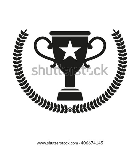 Trophy isolated black icon.
