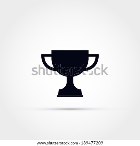 Trophy vector icon - stock vector