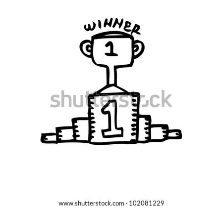 trophy winner illustration - stock vector