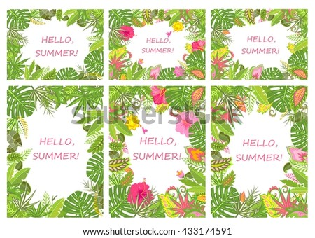 Tropical backgrounds for summer holiday - stock vector