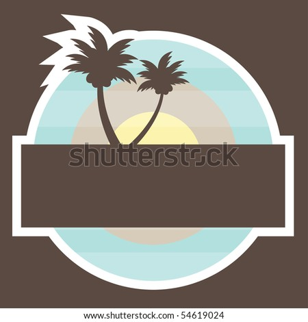 Tropical Beach Banner. vector illustration - stock vector