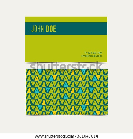 tropical business card vector background trend tropical green flash color hand drawn style