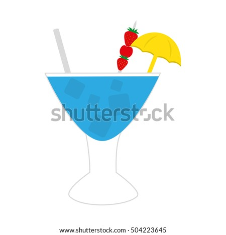 tropical cocktail cup isolated icon vector illustration design