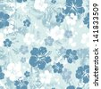 Tropical floral seamless distressed-EPS 8 - stock